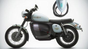 Jawa electric motorcycle imagined - IAB Rendering