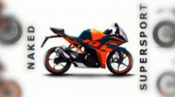 2021 KTM RC 390 listed in the company's future product portfolio