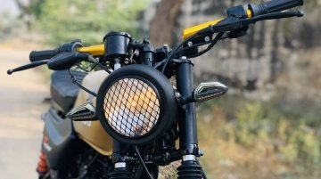 Humble Bajaj CT 100 modified into a scrambler, looks wilder