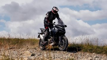 Ducati Multistrada V4 spotted testing in off-road conditions