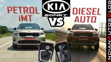 Kia Sonet Diesel AT vs Turbo Petrol iMT: Which one's quicker to the ton?