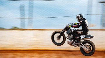 Royal Enfield competes in its first American Flat Track race with Twins FT
