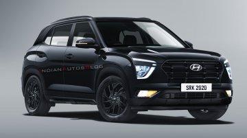 Hyundai Creta Black Edition Rendered, Looks Like a Sinister SUV