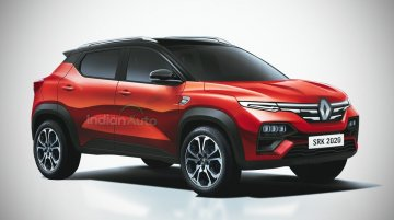Renault Kiger render shows expected features of production-ready model