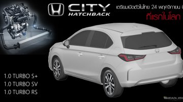 Honda City Hatchback details revealed, to feature 1.0L turbo-petrol engine