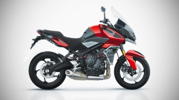 2021 Triumph Trident 660-inspired Triumph Adventure Sport 660 rendered