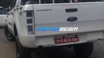 Ford Ranger pickup truck (Isuzu D-Max V-Cross rival) spied testing in India
