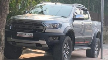 Ford Ranger Spied Again In Production-Spec Guise In India