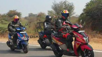 TVS NTorq Iron Man, Black Panther, Captain America Seen In One Frame