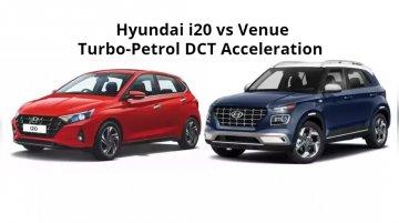 Hyundai i20 vs Hyundai Venue Turbo-Petrol DCT - Acceleration Comparison