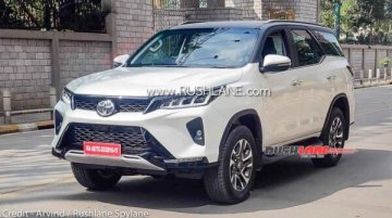 Toyota Fortuner Legender Spotted In India Ahead Of Launch In Jan 2021
