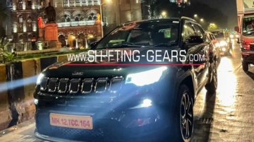 Jeep Compass Facelift Spied Uncamouflaged Ahead Of Launch Next Week