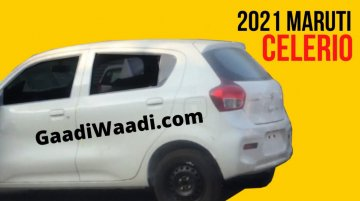 Next-Gen Maruti Suzuki Celerio Rear End Spied Undisguised!
