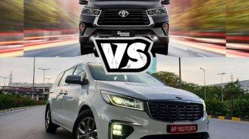 Toyota Innova Crysta vs Kia Carival Spec Comparison: Battle Of Premium MPVs