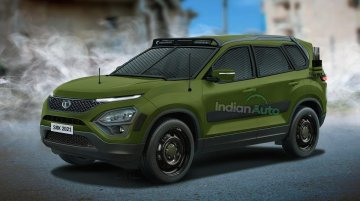 Here's How The 2021 Tata Safari Could Look Like If It Was Used By The Indian Army Again!