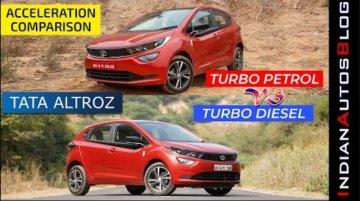 Tata Altroz 1.5L Diesel vs 1.2L Turbo-Petrol - Acceleration Comparison