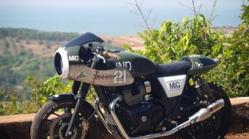 This Custom Royal Enfield Interceptor 650 is Inspired by Fighter Jet MIG-21