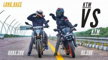 KTM 200 Duke vs KTM RC 200 - Top-End Highway Battle Amongst Siblings