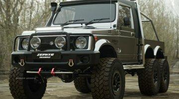 Maruti Suzuki Gypsy Rendered As A Badass 6x6 Off-Road Vehicle
