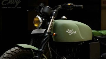 Modified Royal Enfield Classic 350 Looks Rad in Green