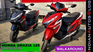 Honda Grazia 125 Sports Edition Detailed in Walkaround Video
