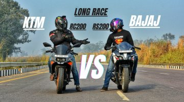 KTM RC 200 vs Bajaj Pulsar RS200 - Who Will Win in Long Drag Race?