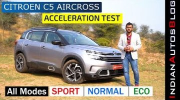 Check Out Citroen C5 Aircross' Acceleration In Each Of Its Three Drive Modes