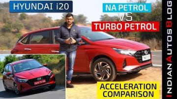 Hyundai i20 1.0L Turbo-Petrol vs 1.2L NA Petrol - Acceleration Comparison