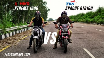 Hero Xtreme 160R vs TVS Apache RTR 160 - Top-End Performance Test
