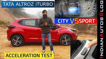 Do Sport and City Drive Modes On Tata Altroz iTurbo Make A Difference?