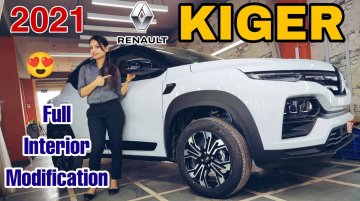 First-ever Modified Renault Kiger gets Custom Interior with Wood Inserts – VIDEO