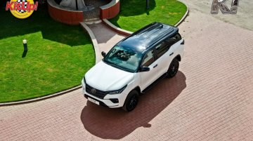Modified Toyota Fortuner Facelift Portrays Black & White Filter with Perfection