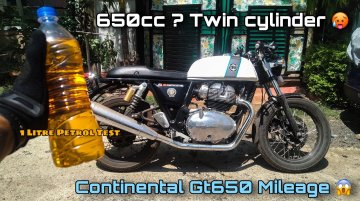 How Frugal is Royal Enfield Continental GT 650? – VIDEO