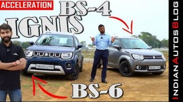 BS4 vs BS6 Maruti Ignis Acceleration Comparo - Has BS6 Update Made It Slower?
