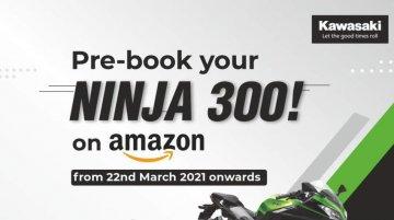 Kawasaki Ninja 300 Online Pre-Booking via Amazon Goes Live