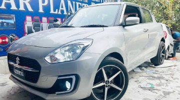 Yet Another 2021 Maruti Swift with Stylish Aftermarket 17-inch Alloys