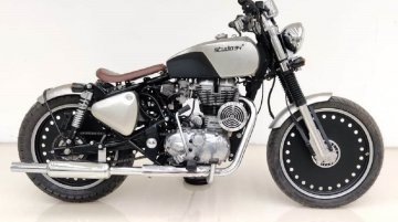 This Modified Royal Enfield Classic 350 Dons a Cutesy Bobber Avatar