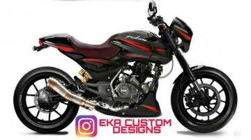 Bajaj Pulsar 150 Cafe Racer Avatar Looks Tempting - Rendering