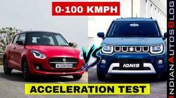 2021 Maruti Swift vs Ignis Facelift 0-100 km/h Test- Surprise Surprise!