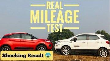 Ford EcoSport vs Tata Nexon - Real World Diesel Mileage Compared