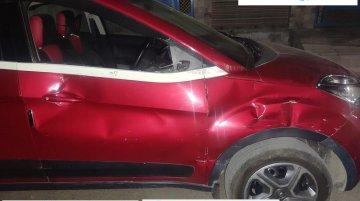 Tata Nexon (4-Star NCAP) gets T-Boned by Truck, Saves All Occupants