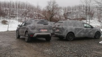 Renault Duster Goes Grand With New 7-Seater Variant; Spied Overseas