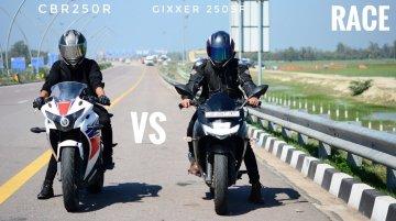 Can Suzuki Gixxer SF 250 Beat Honda CBR250R in Top-End Drag Race?