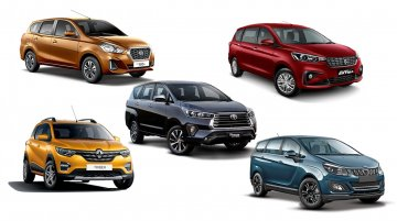 Top 5 Affordable MPVs Under INR 20 Lakh