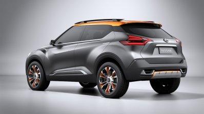 Nissan Kicks Concept rear quarter angle Press shot