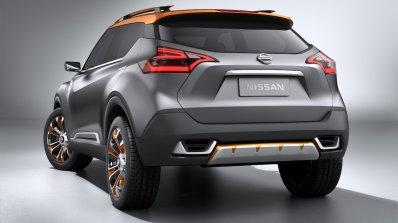 Nissan Kicks Concept rear quarters Press shot