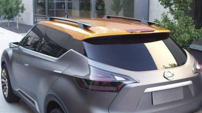 Nissan Kicks concept rear three quarters