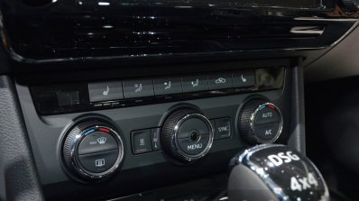 2015 Skoda Superb ac controls at 2015 Geneva Motor Show