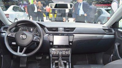 2015 Skoda Superb dashboard at 2015 Geneva Motor Show