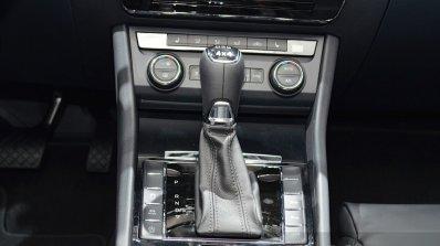 2015 Skoda Superb gear lever at 2015 Geneva Motor Show